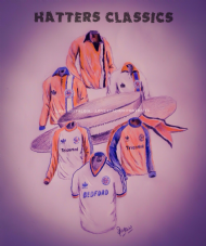 Luton Town 'Hatters' Classic Kits 20'' x 30'' Box Canvas